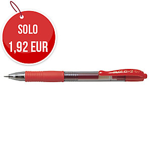 Penna gel a scatto Pilot G2 07 punta 0,7 mm rosso
