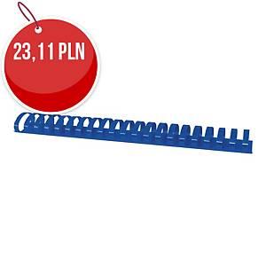 Grzbiety do bindowania OFFICE PRODUCTS, A4, 28,5mm, 50 SZT., niebieskie