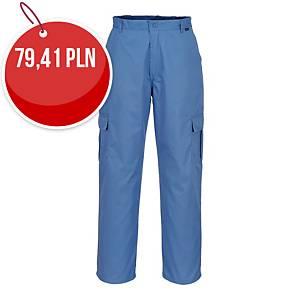 Spodnie ESD PORTWEST AS11, niebieski, rozmiar XL