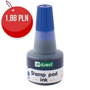 D.RECT 105353 tusz do stempli gumowych 30ML niebieski