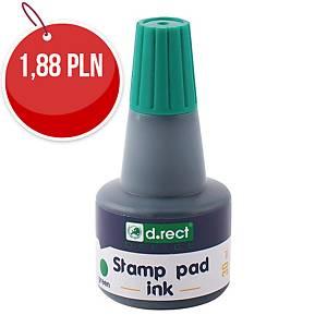 D.RECT 105354 tusz do stempli gumowych 30ML zielony