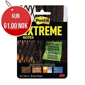 Post-it Extreme Notes, 76 x 76 mm, 3 farger, pakke à 3 blokker