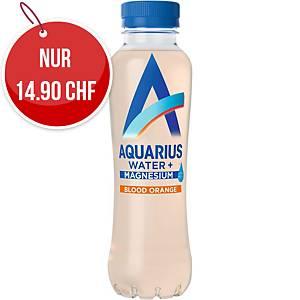 Mineralwasser Aquarius Magnesium und Blutorange, Packung à 12 Flaschen