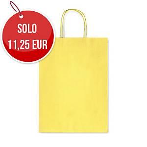 Sacchetto in carta Rex Sadoch 26X36X12 cm giallo - Conf. 25