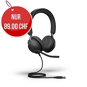 Headset Jabra Evolve2 40 UC, Duo/Stereo, USB-A