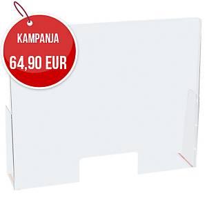 Exascreen pisarasuoja aukolla 95 x 58 cm pöytämalli kirkas