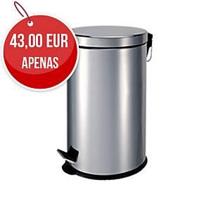 Caixote de lixo sanitário com pedal - metal - 30 l - branco