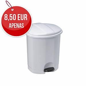 Caixote de lixo sanitário com pedal - plástico- 5 l - branco