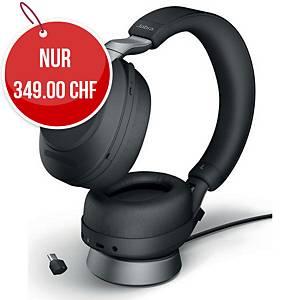 Headset Jabra Evolve2 85 MS, Duo/Stereo, Inkl. Ladestation, Bluetooth