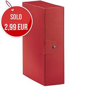 Cartella portaprogetto Esselte Eurobox cartone con bottone dorso 10 cm rosso