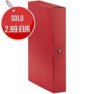 Cartella portaprogetto Esselte Eurobox cartone con bottone dorso 6 cm rosso