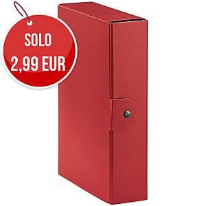 Cartella portaprogetto Esselte Eurobox cartone con bottone dorso 8 cm rosso