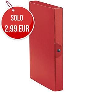 Cartella portaprogetto Esselte Eurobox cartone con bottone dorso 4 cm rosso