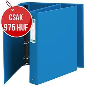 Exacompta Clean Safe 4 gyűrűs iratrendező, szélesség 4 cm,  O -gyűrű 3 cm, kék