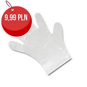 Jednorazowe rękawice foliowe, opakowanie 100 sztuk