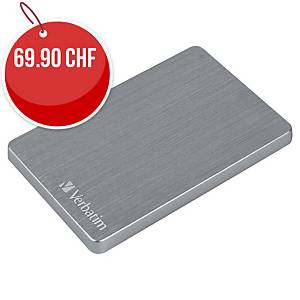 Disque dur HD Verbatim Store n  Go ALU, 1TB, gris spatial