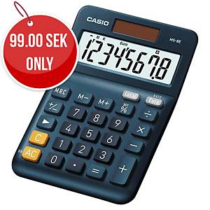 CASIO MS-8E Desk Calculator 8-Digit, Solar/Battery Powered