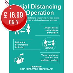 Social Distancing In Operation Sign - Keep A Safe Distance