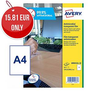 Avery Surface Protecting Film Labels, A4 size, Pack 10