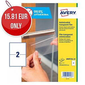 Avery Surface Protecting Film Labels, 199.6x143.5mm, Pack 20