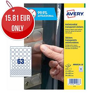 Avery Surface Protecting Film Round Stickers, Mixed Sizes, Pack 630