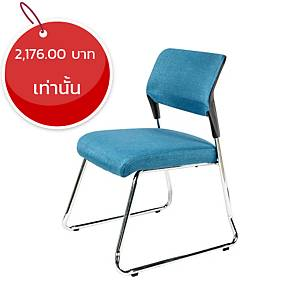 WORKSCAPE เก้าอี้พักคอย ZR-1025B สีฟ้า
