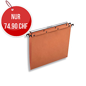 Hängemappe Elba L Oblique AZO Ultimate A4, orange, Packung à 25 Stück