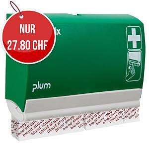 Pflasterspender QuickFix, mit 2x45 Blood Stopper Pflaster, grün/weiss