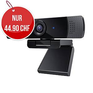 Webcam AUKEY PC-LIM1E, Full HD, fester Fokus, Zweikanal-Mikrofon