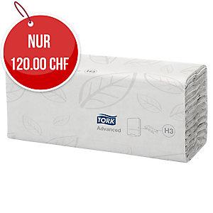 Falthandtuch Tork Advanced 290264, C-Falz, 2-lg., weiss, Pk. à 20 x 120 Tücher