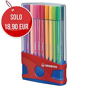 Pennarelli Stabilo Pen 68 punta media - conf. 20