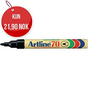 Permanent merkepenn Artline 70, rund spiss, sort
