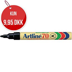 Permanent marker Artline 70, rund, sort