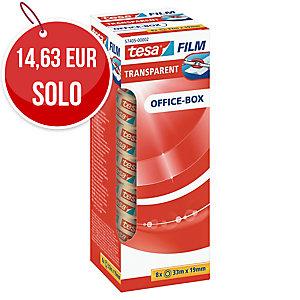 Pack de 8 rollos de cinta adhesiva transparente Tesa Film - 19mmx33m