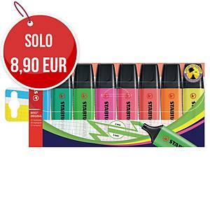 Evidenziatore Stabilo Boss in astuccio colori assortiti - conf. 8