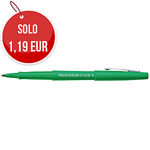 Pennarello PaperMate Nylon Flair punta media 1,1 mm verde