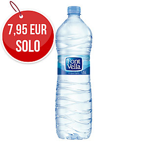 Pack de 12 botellas de agua Font Vella - 1,5 L
