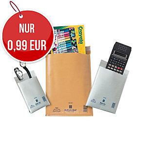 weiße Luftpolster-Versandtaschen - Innengröße: 110 x 160 mm, 10 Stück/Packung