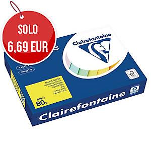 RISMA 500 FOGLI CARTA TROPHEE CLAIREFONTAINE FORMATO A4 80 G/MQ GIALLO SOLE