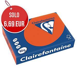 Carta colorata Trophee A4 80 g/mq arancione - risma 500 fogli