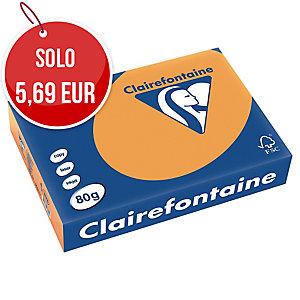 RISMA 500 FOGLI CARTA TROPHEE CLAIREFONTAINE FORMATO A4 80 G/MQ PASTELLO ARANCIO