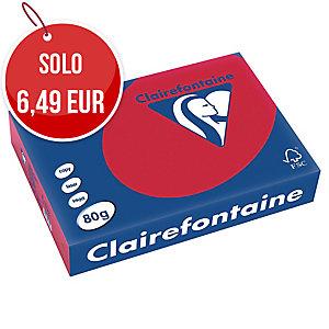 RISMA 500 FOGLI CARTA TROPHEE CLAIREFONTAINE FORMATO A4 80 G/MQ ROSSO