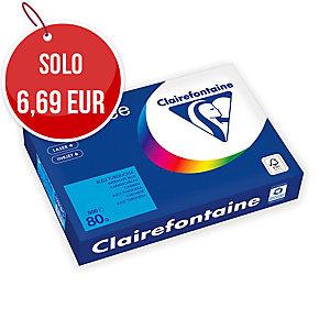 RISMA 500 FOGLI CARTA TROPHEE CLAIREFONTAINE FORMATO A4 80 G/MQ TURCHESE