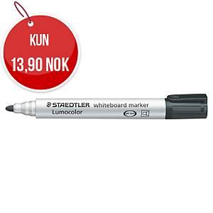 Whiteboardpenn Staedtler Lumocolor 351, rund spiss, sort