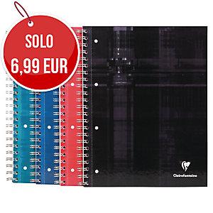 BLOCCO CLAIREFONTAINE BIND O  BLOCK FORMATO A4+ 22,5X29,7CM QUADR 5X5 80F 90G/MQ
