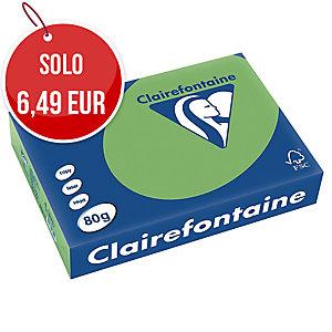 RISMA 500 FOGLI CARTA TROPHEE CLAIREFONTAINE FORMATO A4 80 G/MQ VERDE MENTA