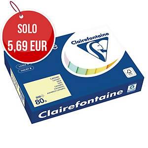 Carta colorata Trophee A4 80 g/mq giallo canarino - risma 500 fogli