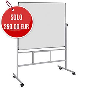 Lavagna smaltata magnetica Bi-Office orientabile 150 x 120 cm