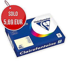 RISMA 500 FOGLI CARTA TROPHEE CLAIREFONTAINE FORMATO A4 80 G/MQ PASTELLO AVORIO