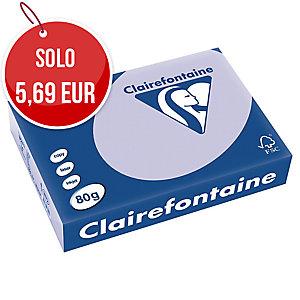 RISMA 500 FOGLI CARTA TROPHEE CLAIREFONTAINE FORMATO A4 80 G/MQ PASTELLO LILLA